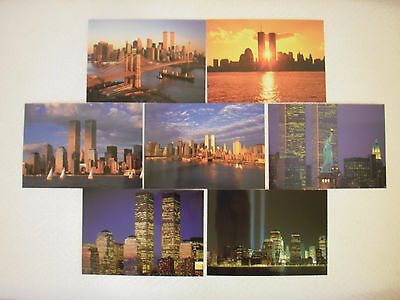 9//11 Memorial Museum Postcards Lot of 7 Different New York City Twin Towers NYC