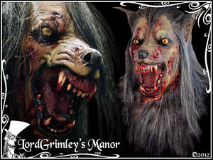image is loading brown undead werewolf latex halloween mask prop horror - Halloween Werewolf