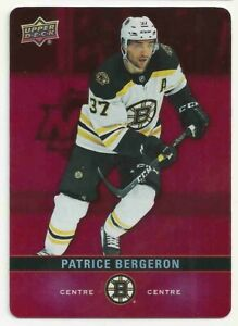 Tim-horton-2019-20-upper-deck-hockey-card-diecut-set-card-dc16-patrice-bergeron