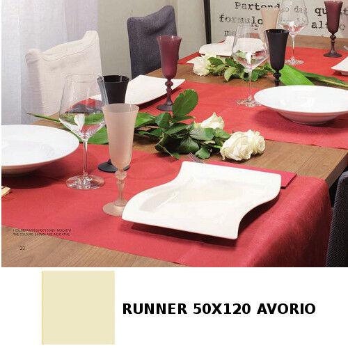 200 TOVAGLIE RUNNER 50X120 AVORIO RISTORANTE CARTA SECCO AIRLAID TETE A' TETE