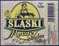 Poland Brewery Lwówek Śląski Mocne Beer Label Bieretikett Cerveza ls132.1