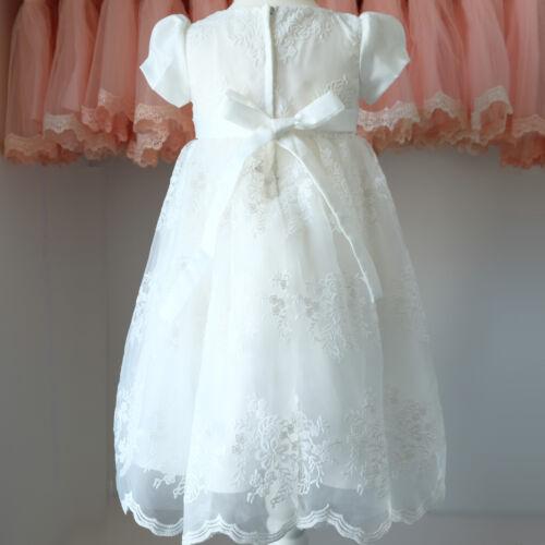 BM22 Klassisches Langes Taufkleid Festkleid Kleid Tüll Spitze Gr.68-92