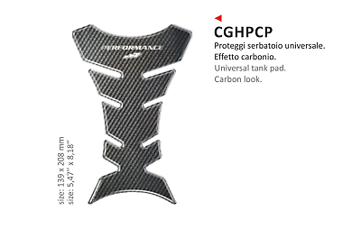 Cghp Paraserbatoio Adesivo Resinato Carbon Look Per Tutte Le Moto Derbi