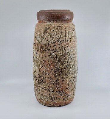 Vintage Sgraffito Fish Engraved Studio Pottery Ceramic Bowl Signed Symone 1989 The Great Rift Valley of Kenya