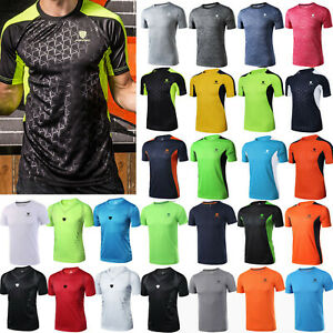 Mens-Quick-Dry-T-shirt-Short-Sleeve-Compression-Sport-Gym-Muscle-Jersey-Tee-Tops