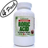 Boric Acid Powdered Acido Borico En Polvo 4 Pack