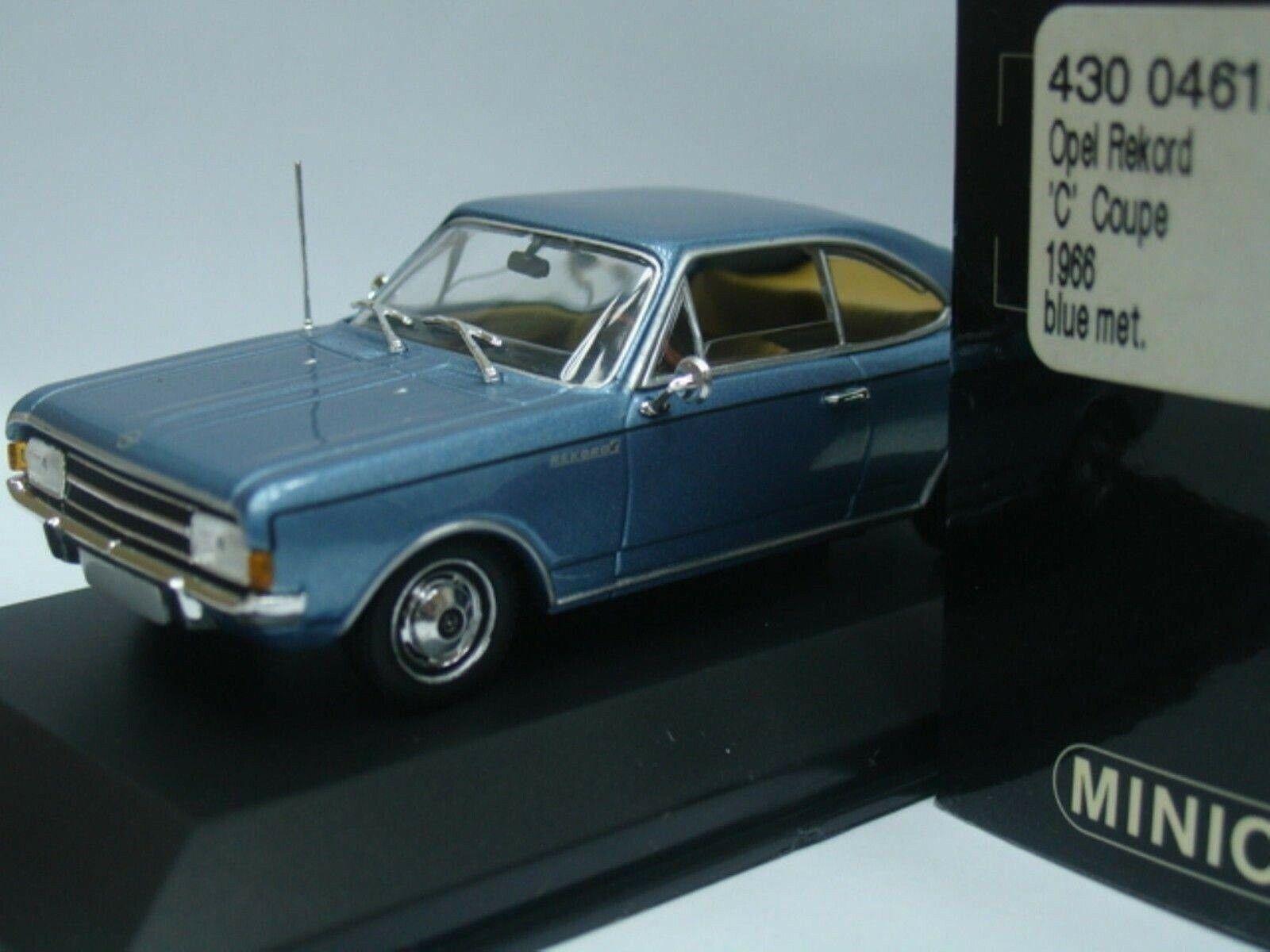 WOW estremamente raro OPEL OLYMPIA REKORD C Coupe 1.9L 1966 A. blu 1 43 Minichamps-DIPLOMATICO