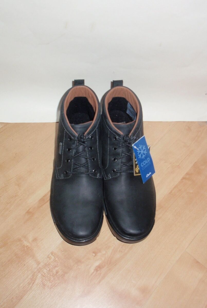 NEW mens Clarks NARLY NARLY NARLY HILL GTX leather fleece lined winter boots ROCK sole fce0a1