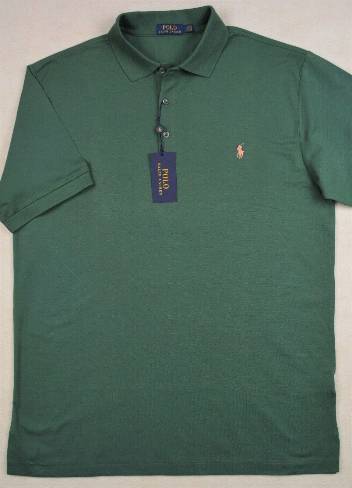 Polo Ralph Lauren Shirt Green 3-Button Stretch Mesh XLT XL Tall NWT