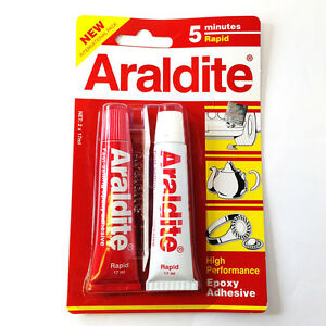 Details about Araldite AB Epoxy Adhesive glue 5 minutes rapid NEW