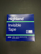 3x 3m Highland 6200 Clear Invisible Permanent Mending Tape 34 X 2592 3 Core