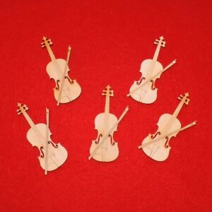 Geige Aus Holz 7 Cm 5er Set Musikinstrument Geschenk Geldgeschenk