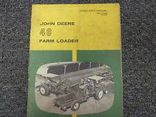 John Deere 48 Front End Farm Loader Owner Operator Maintenance Manual Om C19515