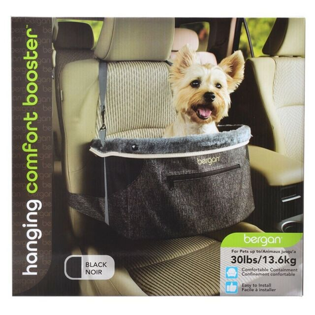 Bergan Comfort Hanging Car Booster Dog Seat In Black Or Taupe For Pets Up To 30