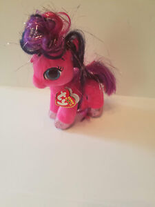 cf19fca9d53 Authentic New w  tags Ty Beanie Boo Ruby the Pink Pony Horse 6 ...