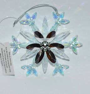 BATH-BODY-WORKS-SNOWFLAKE-SILVER-BLUE-MAGNET-ORNAMENT-LARGE-3-WICK-CANDLE-DECOR