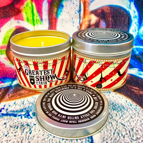 Greatest showman scented candle night circus the caraval circus toffee apple