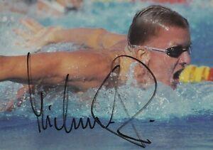 Autogrammkarte Michael Groß - Schwimmen - Deutschland / Olympiasieger