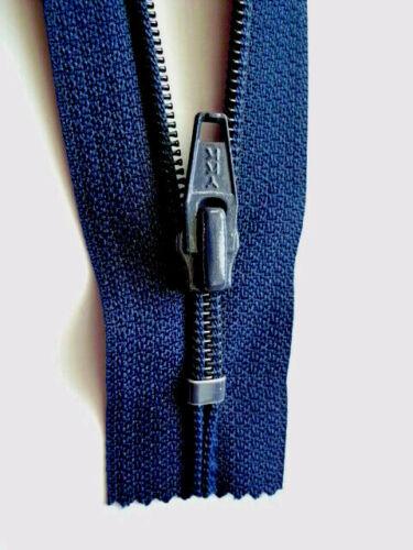 Cremallera azul oscuro indivisibles nylon tamaño 5 ykk Opti cipzár 40cm-50cm