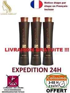 Kit-Complet-3X150ml-Lissage-Bresilien-Honma-Tokyo-All-Liss-Premium-Coffee