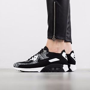 354d54e42c08f Details about Nike Air Max 90 Ultra 2.0 Flyknit Wmn Sz 8 Black White  Anthracite 881109-002