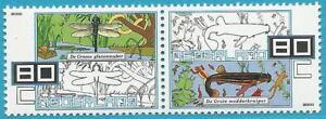 SincèRe Pays-bas De 2000 ** Cachet Minr. 1823-1824 De Mh-animaux Et Nature!-afficher Le Titre D'origine Qualité SupéRieure (En)