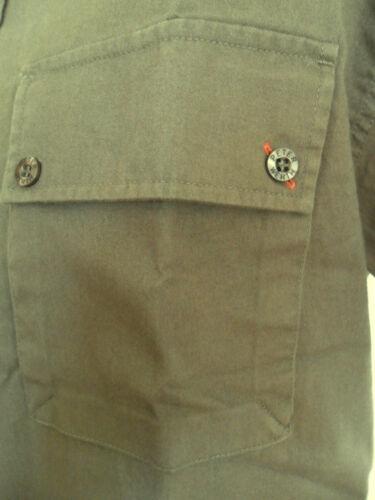 Men/'s Short Sleeve Double Chest Pockets Cotton Shirts Peter Werth