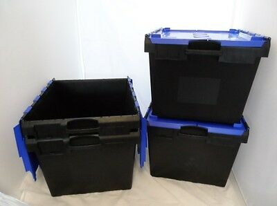 1 Black/Blue New Removal Storage IT3 Crate Box Container 138L