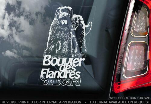 Bouvier Des Flandres A Bordo-janela do carro Adesivo-Cão Bumper Decalque Sign-V01