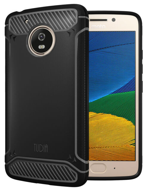 low priced 7aea4 43bc1 TUDIA Motorola Moto G5 Case Carbon Fiber Design Lightweight Tamm TPU Bumper