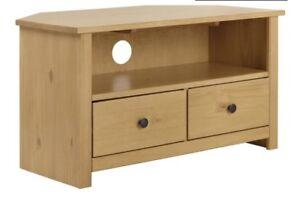 online store d3b65 c22f7 Details about Porto Solid Wood Corner TV Unit - Oak Effect