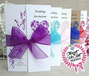 Image Is Loading Personalised Gatefold Wedding Invitations Or Evening  Invites With