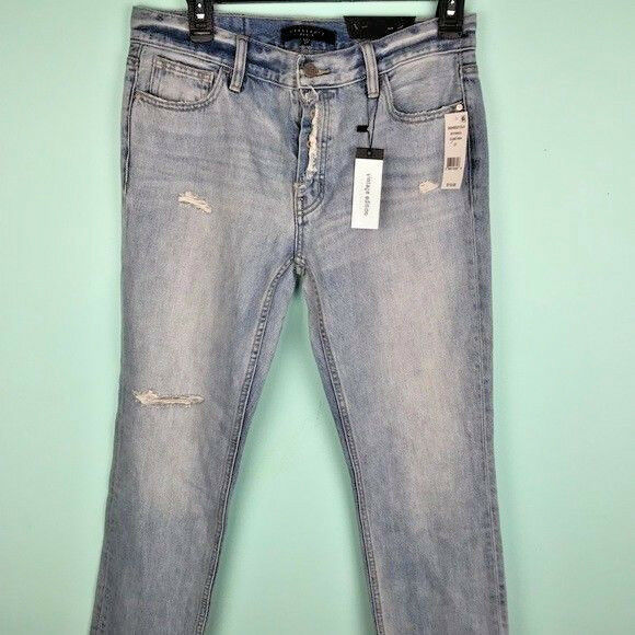 NWT Anthropologie Sanctuary BOHO Vintage distressed Denim Jeans - 27 MSRP  119