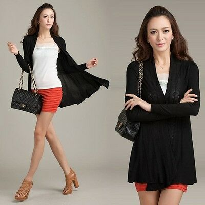 Womens Casual Long Sleeve Cardigan Knit Knitwear Sweater Coat Wraps Outwear Tops