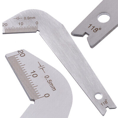 Drill Bit Gauge Edge Dimension Gage Sharpening Angle Inspection Tool BB