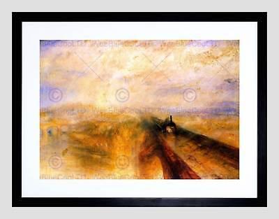 Turner Rain Steam Speed Great Western Railway Framed Art Print B12x434 Ebay