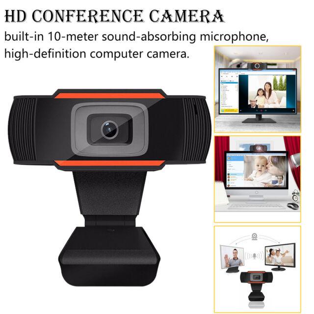 360° 12MP USB 2.0 1080P HD WebCam Web Camera Clip-on MIC for Desktop PC Laptops