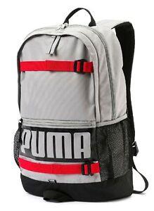 b2fe4e535078d Das Bild wird geladen PUMA-Deck-Backpack-Rucksack-Tasche-Limestone-Grau- Schwarz-