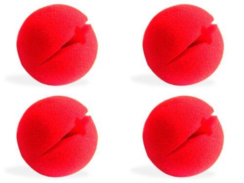 Clown-nez rouge Carnaval Red Nose mardi gras mousse-NEZ Mousse de Caoutchouc 4stk