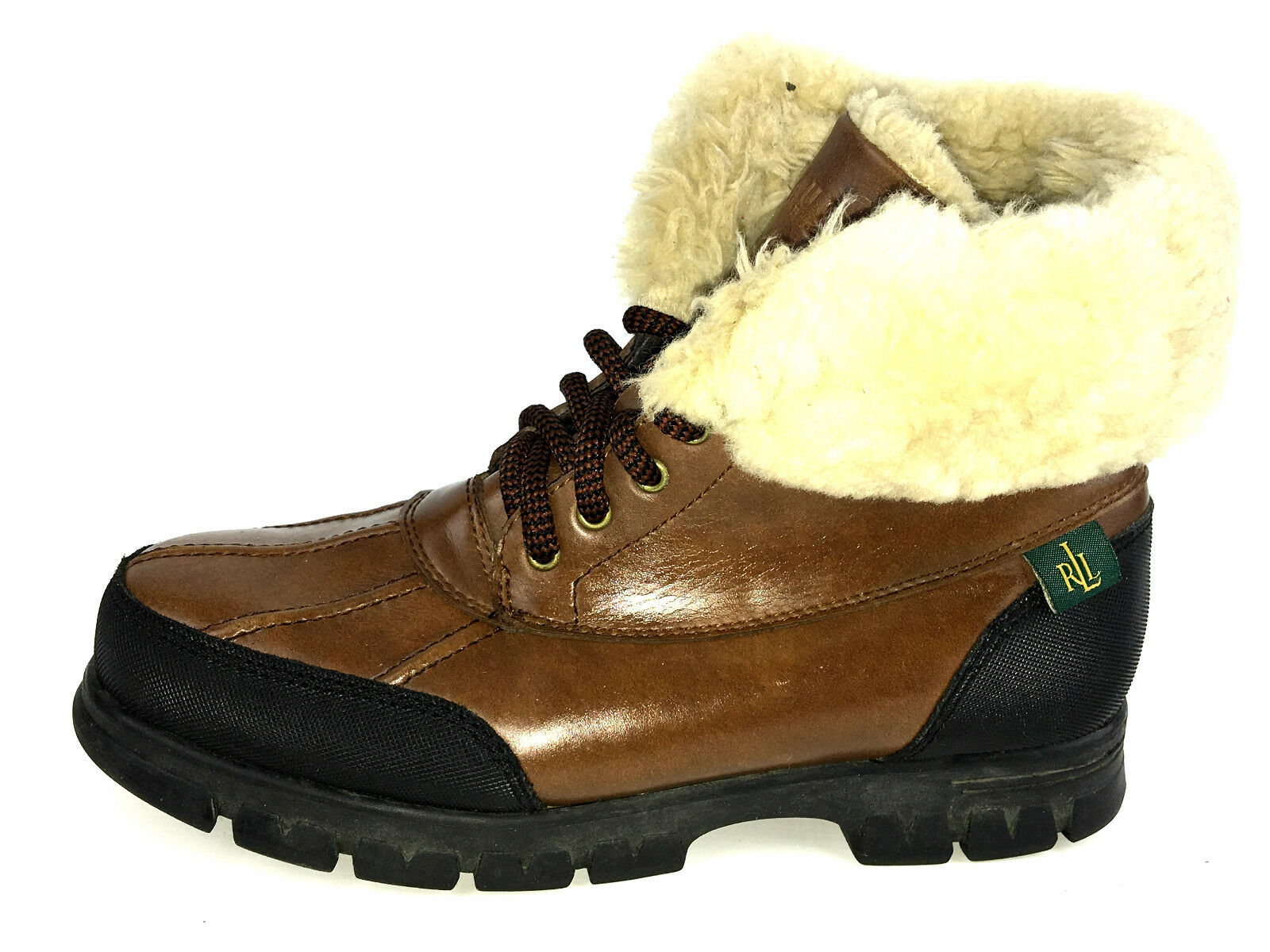 Ralph Lauren Piel de cuero de de de invierno para mujer quinta botas talla 6 EE. UU.  diseñador en linea