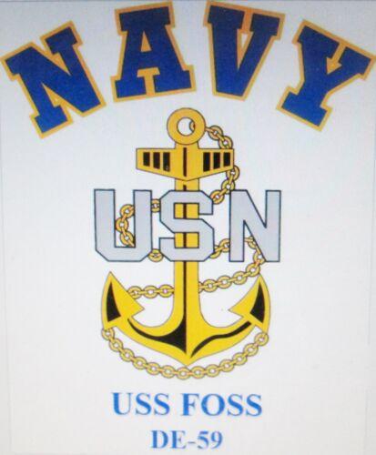 USS BAYONNE PF-21* FRIGATES /& ESCORTS U.S NAVY W// ANCHOR* SHIRT