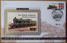 2009 Ltd Ed Benham Error Cover - NER  Four Cylinder Compound Express Locomotive