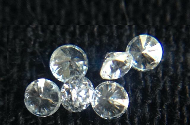 New Genuine Natural White Full Cut Round Diamond 4pc Lot 1.3mm G/VVS Melee Loose