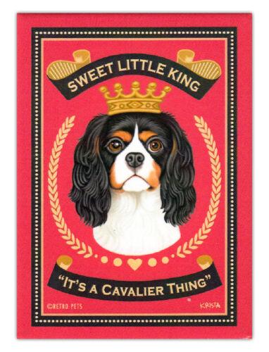 Retro Dogs Refrigerator Magnets Art Cavalier King Charles Spaniel
