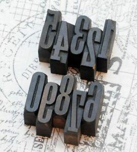 0-9-Holzzahlen-36mm-Ziffern-Plakatlettern-Holzlettern-Zahlen-imprimerie-Ziffer