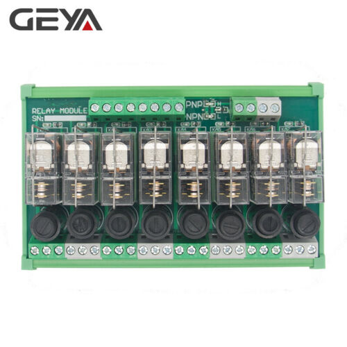 8 Channel Omron Relay Module for PLC Controller SPDT 12V 24V with Fuse Protectio