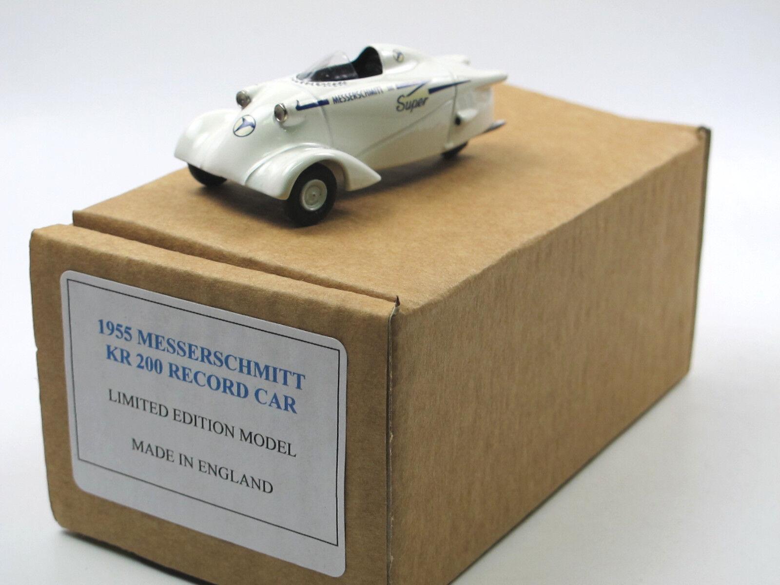 SAMS Model Cars - 1955 couteau Schmitt KR 200 record car-LSR - 1 43 blancmetall