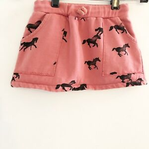 Bobo-Choses-Girls-Horse-Skirt-Rust-Orange-Black-Pockets-Toddler-Size-2-3