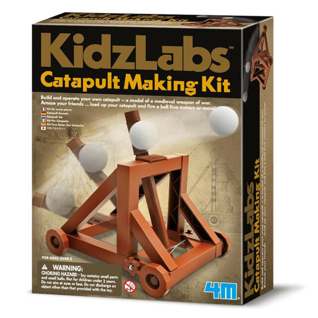 Kidz Labs Childrens Catapult Making Kit Medieval Toy Educational School Gift