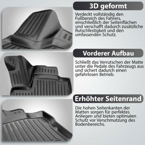 2017 Gummimatten 3D Passform Hoher Rand Fußmatten für OPEL Grandland X